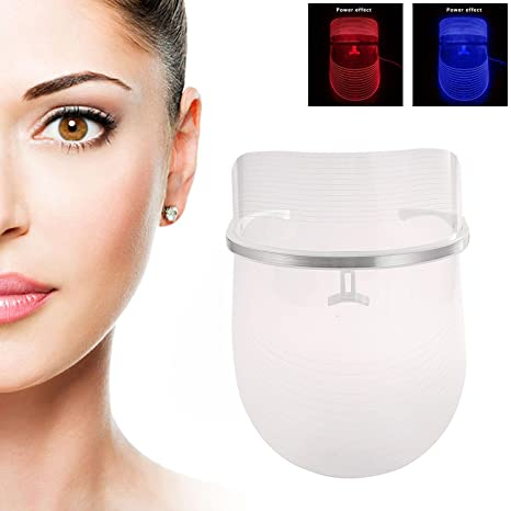 AOLVO máscara facial LED, terapia de luz fotón máscara para ...