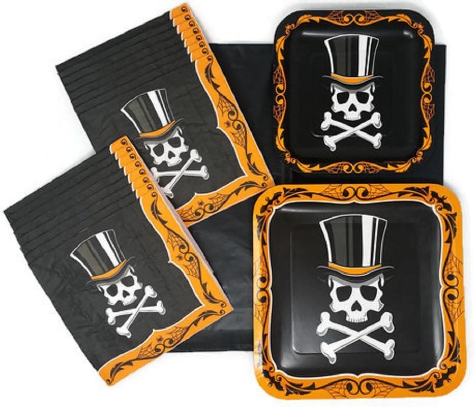 Halloween Skull Plates and Napkin Sets