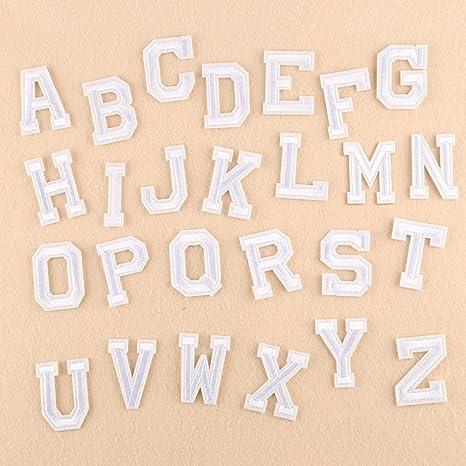 Xunhui 26 Anglais Lettres Patch Blanc Lettres De L Alphabet Word