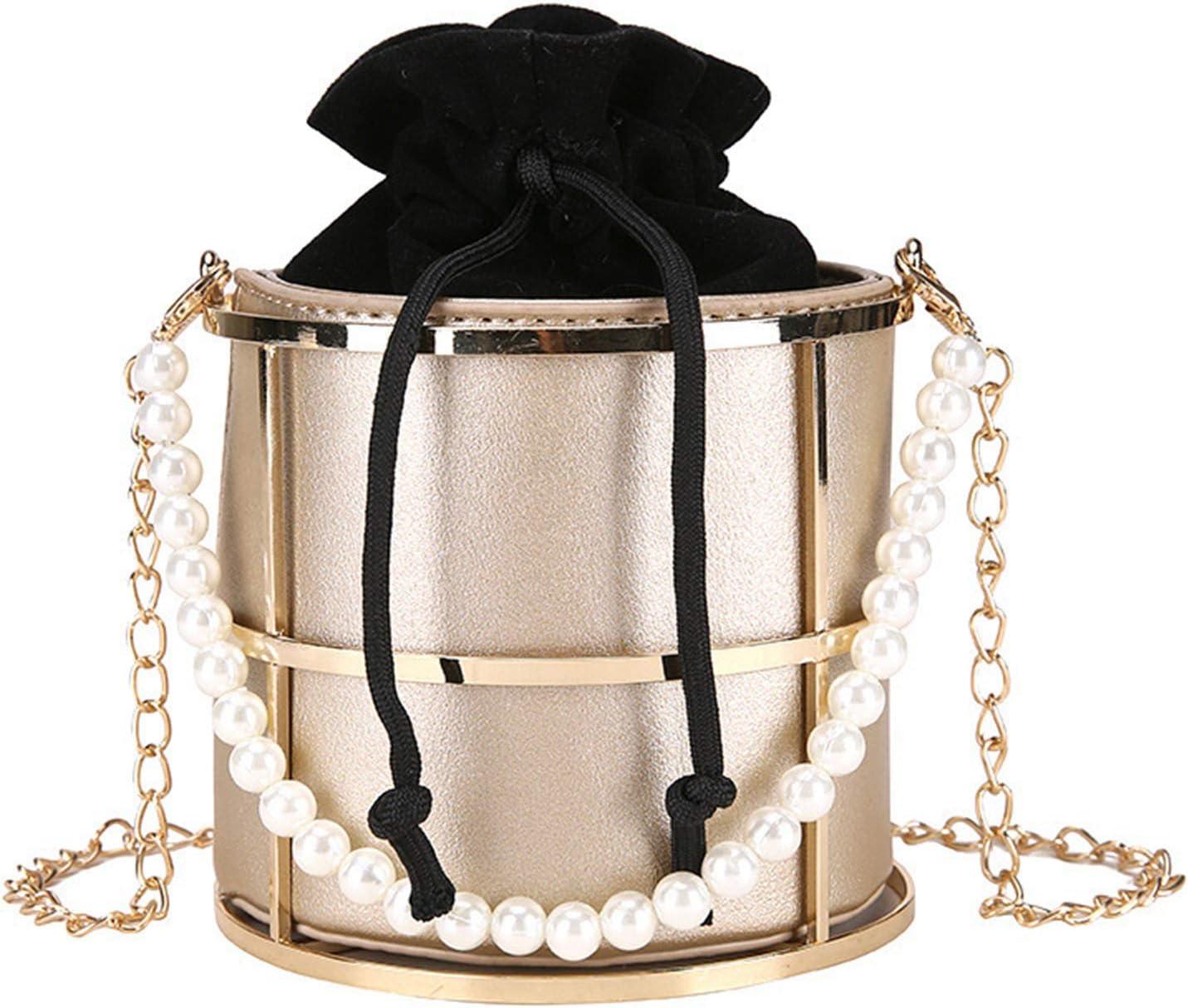SUCHUANGUANG Bolso de Noche Ahuecado para Mujer, Bolsos de Mano para Boda, graduación, Fiesta de cumpleaños, Bolso de Noche Dorado