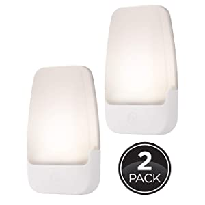 GE Plug-in LED Night, 2 Pack, Automatic, Light Sensing, Auto On/Off, Soft White, Energy Efficient, Ideal for Entryway, Hallway, Kitchen, Bathroom, Bedroom, Stairway and Office, 30966 natural sleep aids - 71pmdtRmWcL - Natural sleep aids – the best supplements to end sleepless nights