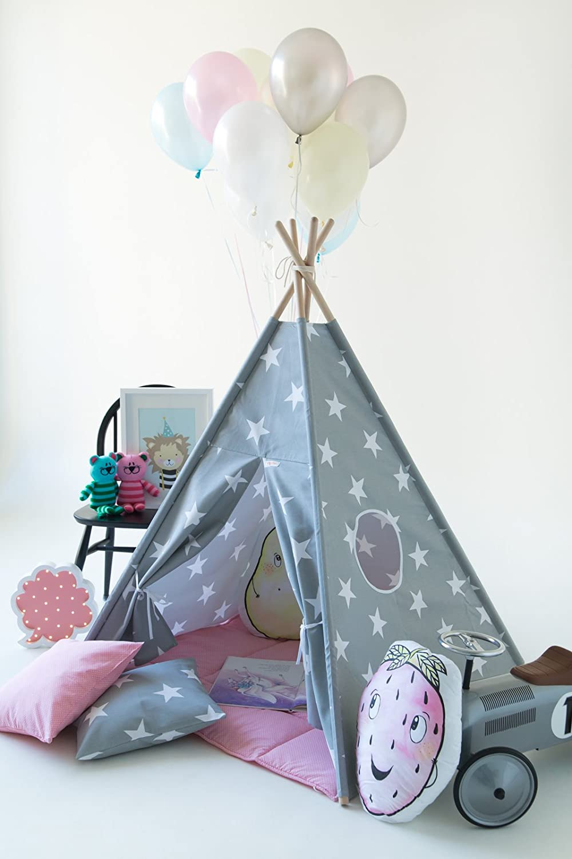 Kinder Tipi Teepee Zelt Set (Tipi, Spieldecke, Kissen)