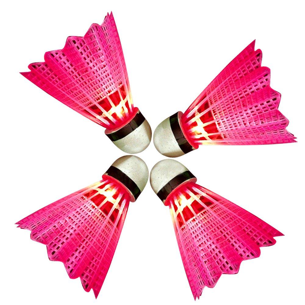 最大80%オフ! Eastlion LEDバドミントン屋外屋内シャトルコックスポーツ活動夜光バドミントン 4個 B0192LVN30 シャトル 4個 レッド レッド B0192LVN30, プロシューマ:f78a1f58 --- vanhavertotgracht.nl