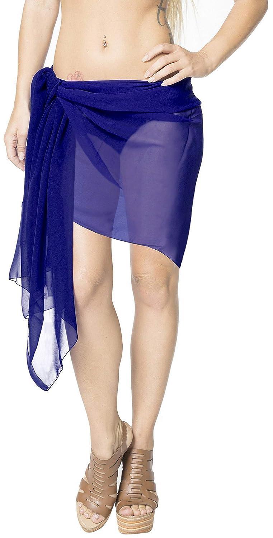 Pure Maillots de Bain en Mousseline de Soie Wrap écharpe Bikini Jupe Courte des Femmes Couvrir Sarong LA LEELA