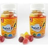 Radicura Vegetarian Vegivit and Vitamin D Gummies for Kids - Pack of 2