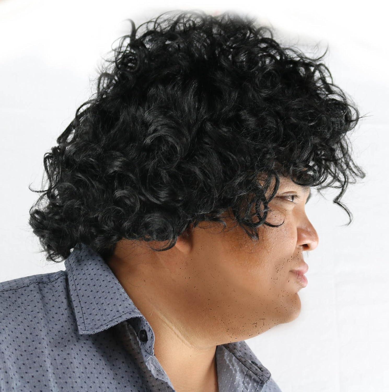 Women Prince WigBlack Curly Wig for Prince Men Purple Rain Costume Kids