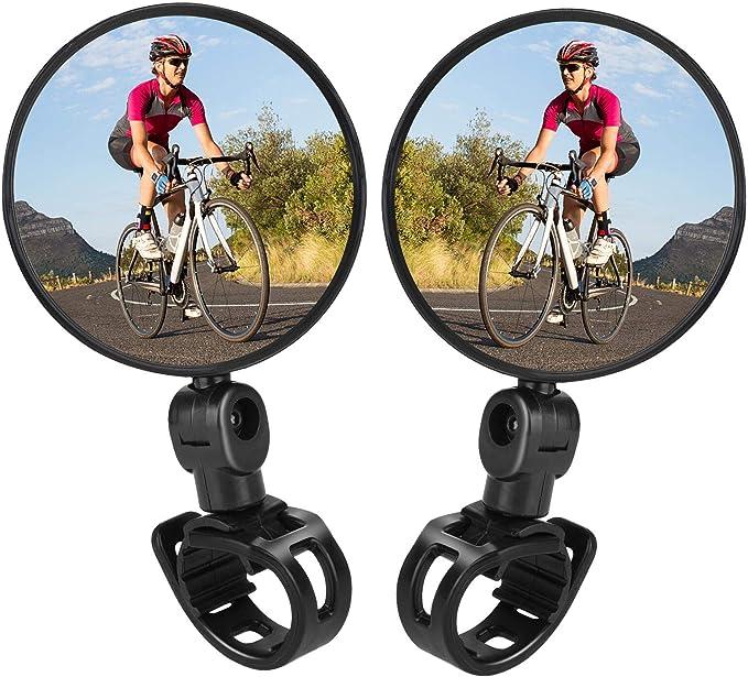 Adjustable Bicycle Rear View Mirror Cycling Bike Handlebar Wide Range Back  SU