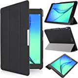 iHarbort® Samsung Galaxy Tab A 9.7 Custodia Case Cover con funzione di supporto auto wake up Sleep PU Pelle Guscio per Samsung Galaxy Tab A 9.7 (SM T550 N/T555 N) Smart Cover con Auto Sleep Wake up/Funzione Stand (Galaxy Tab A 9.7, Nero)