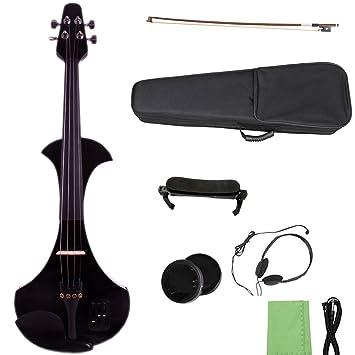 Yinfente 4/4 - Violín eléctrico profesional (tamaño pequeño, soporte para MP3): Amazon.es: Instrumentos musicales