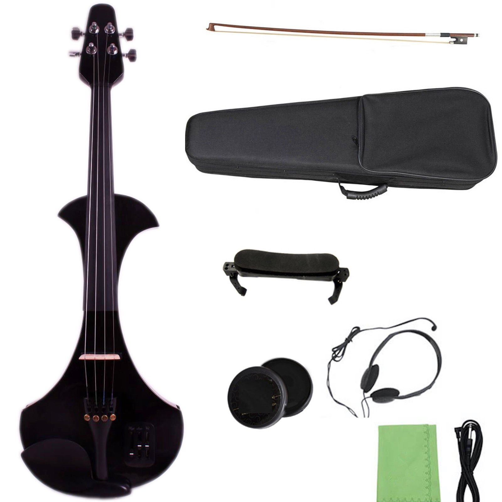 Yinfente 4/4 Electric Violin Professional Violin Big Small Jack Support Mp3 Background