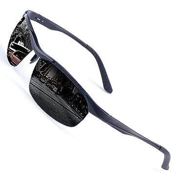 Perfectmiaoxuan Gafas de Sol polarizadas Deportes al Aire Libre Hombre Mujere/Hombres del Conductor Gafas de Pesca polarizadas Gafas de Sol UV400 (Black): ...