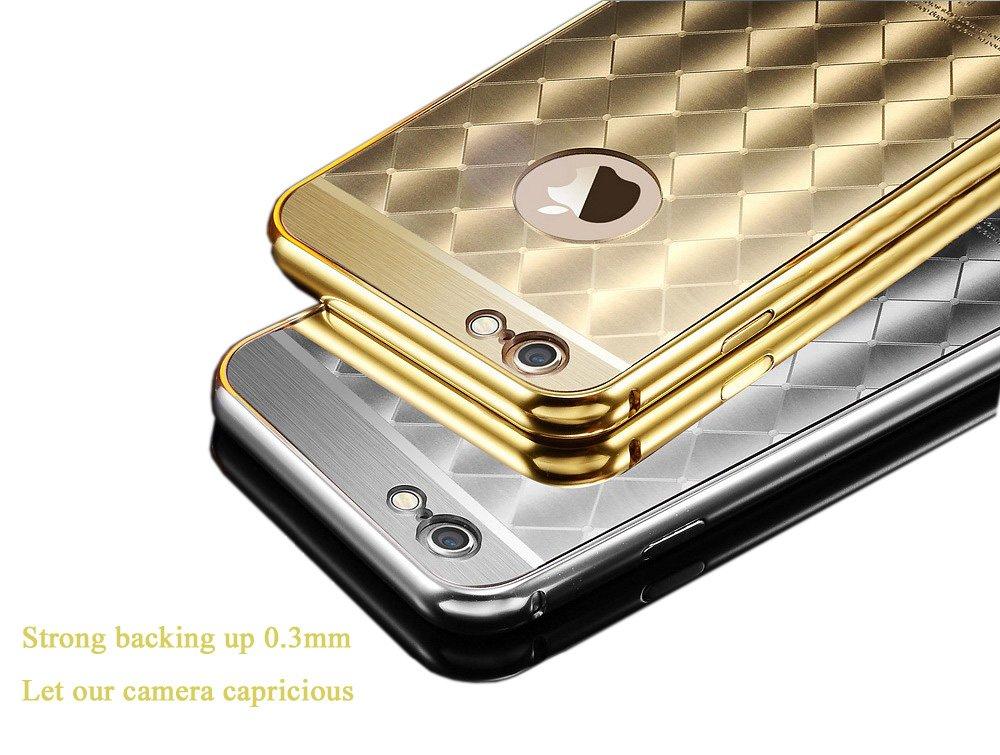 Cqm pour iPhone 6 6s Plus le nouvel Alliage d aluminium oxydation Cadre +  Dazzle Couleur acrylique Coque téléphone portable Housse de protection, ... dbe1deda053
