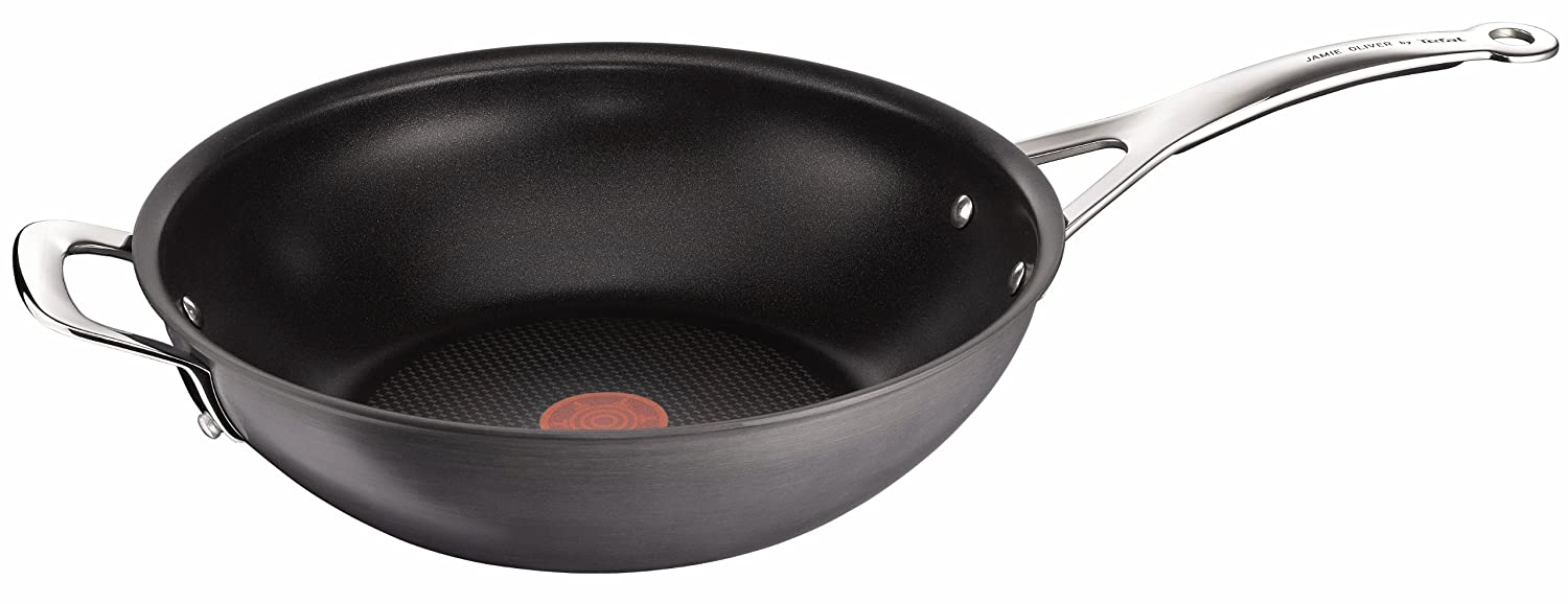 Jamie Oliver by Tefal - Hard Anodised 30cm Wok E9058744