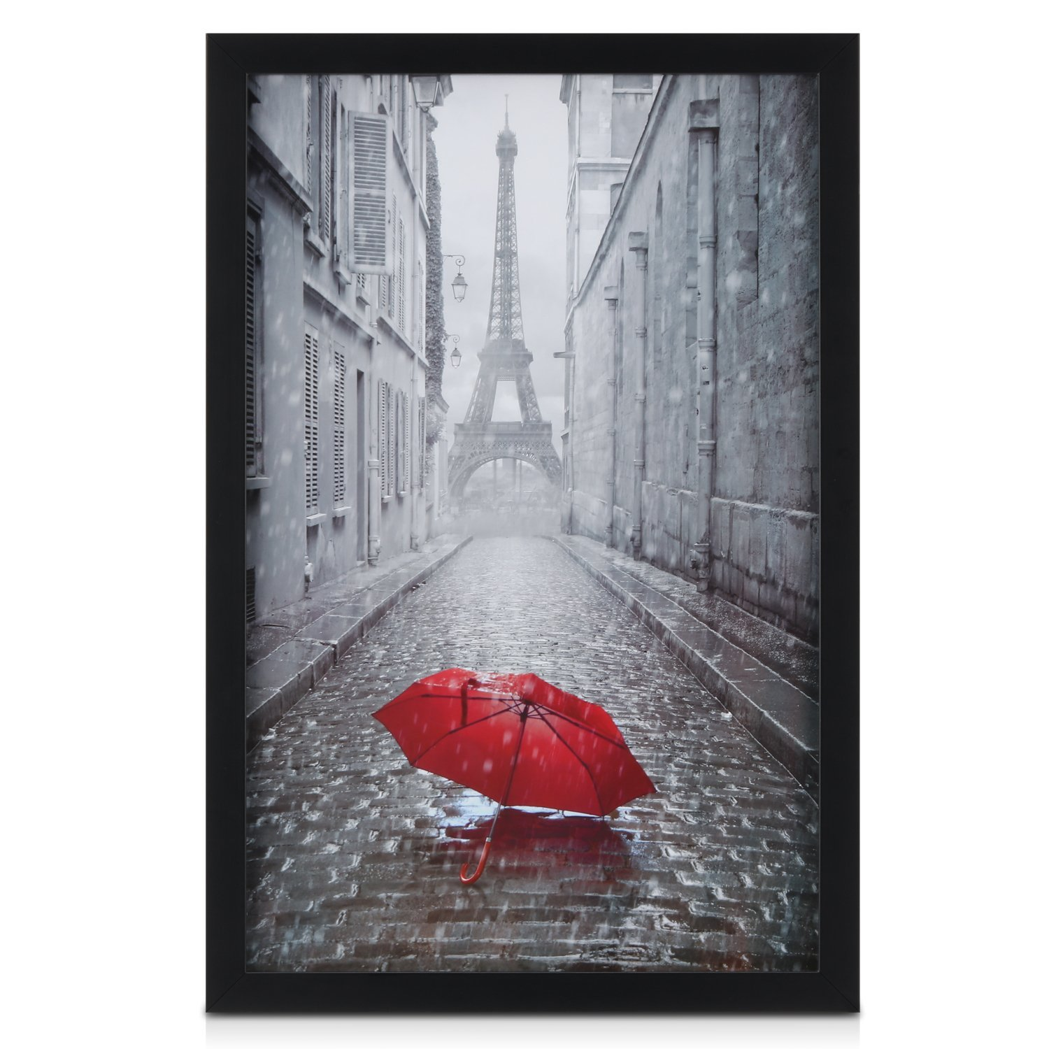 ONE WALL 11x17 Picture Frame, Tempered Glass Black Photo Poster Frame, Wall Mounting Material Included by ONE WALL