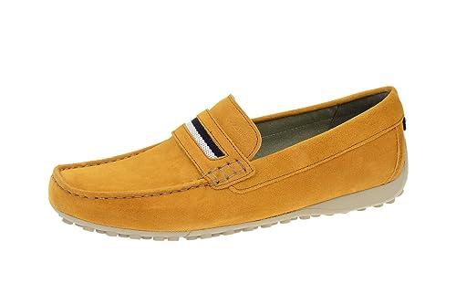Geox U5207A 00022C5046 - Mocasines de Piel para Hombre, Color Amarillo, Talla 41: Amazon.es: Zapatos y complementos