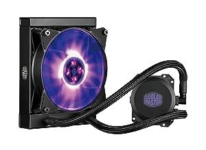 Cooler Master MasterLiquid ML120L RGB Close-Loop CPU Liquid Cooler, 120mm Radiator, Dual Chamber RGB Pump, Dual MF120R RGB Fans w/RGB Lighting Sync for AMD Ryzen/Intel 1151/2066
