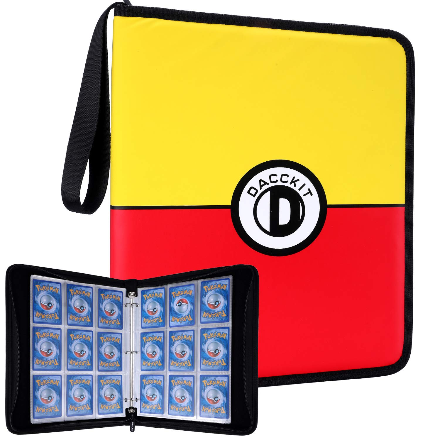 DACCKIT Carrying Case Compatible with Pokemon Trading Cards, Cards Collectors Album with 30 Premium 9-Pocket Pages, Holds Up to 540 Cards (Color Version)