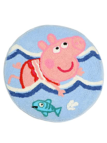 Saral Home Peppa Pig Soft Microfiber Anti Slip Bathmat- 60x60 cm, Multi