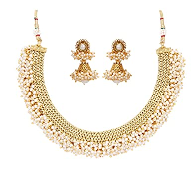 designs haram pin simple heavy beads gold jewellery looks indian and necklace