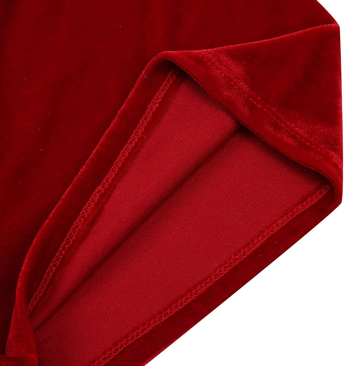 winying Mens Red Velvet Christmas Holiday Santa Claus Cosplay Costume Boxer Shorts Briefs Lingerie Underwear