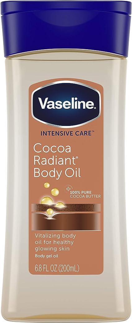 Vaseline Aceite corporal de manteca de cacao vitalizante, botellas de 7 onzas (paquete de 3)