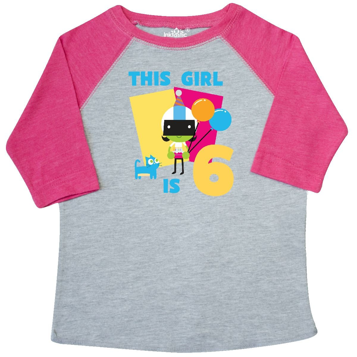 PBS Kids inktastic This Girl is 6 with Dee Toddler T-Shirt