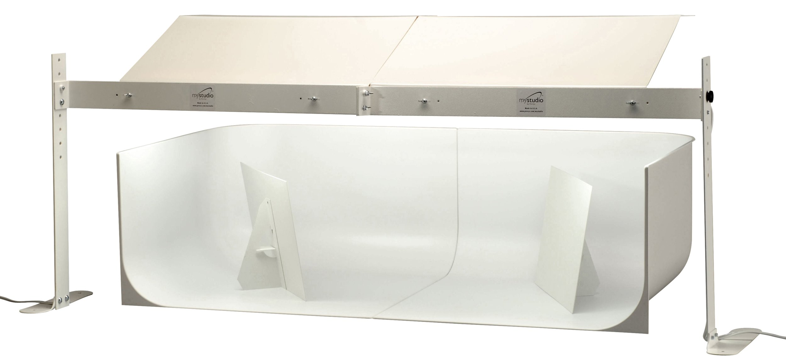 MyStudio MS20DEL Deluxe Table Top Photo Studio Lightbox Kit with 5000K Lighting and Dual 20'' x 20'' x 12'' Seamless Backgrounds for Product Photography 40x20x12 inches by MyStudio