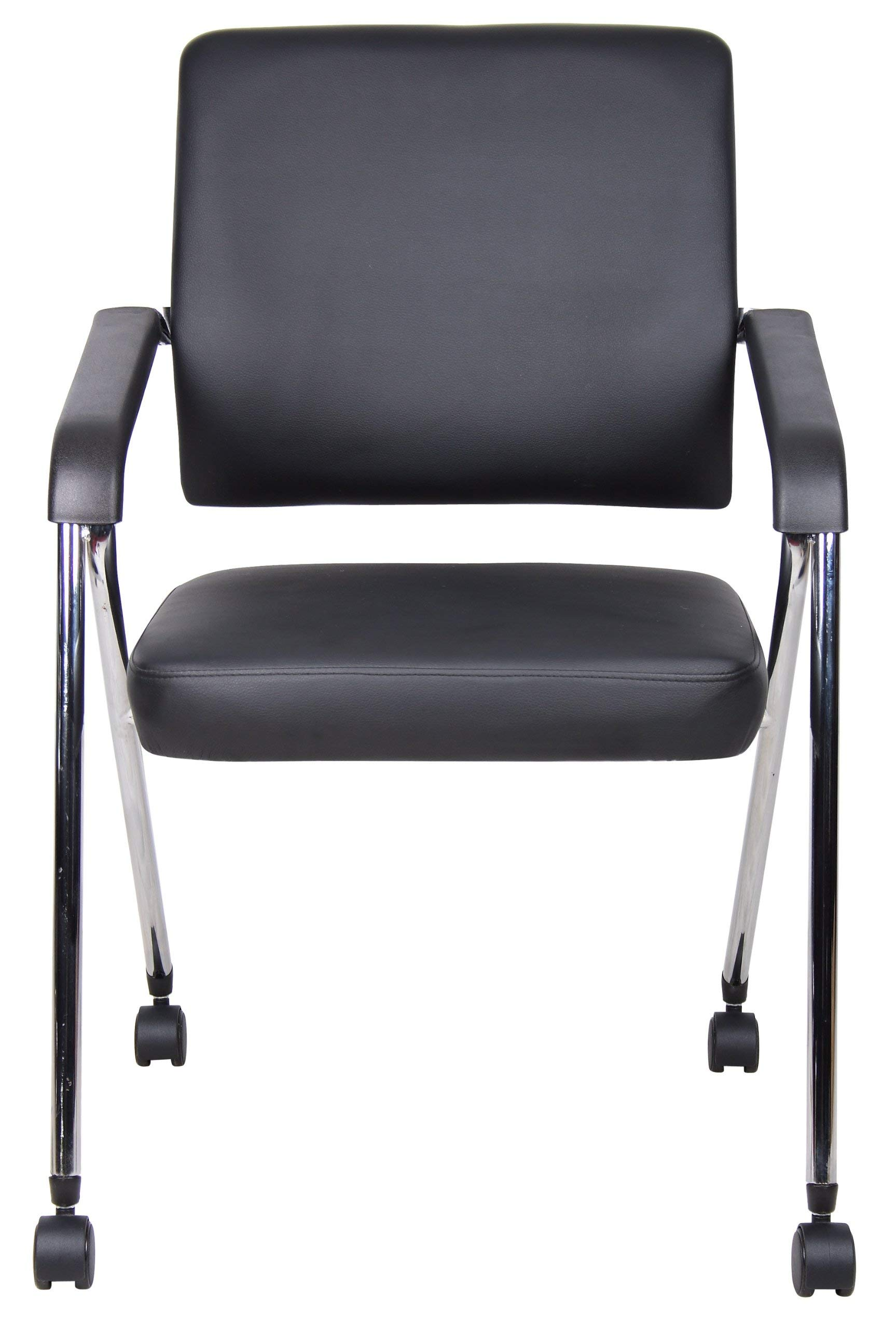 Boss Office Products B1800-CP-2 Caressoft Plus Training Chair 2 Pack in Grey
