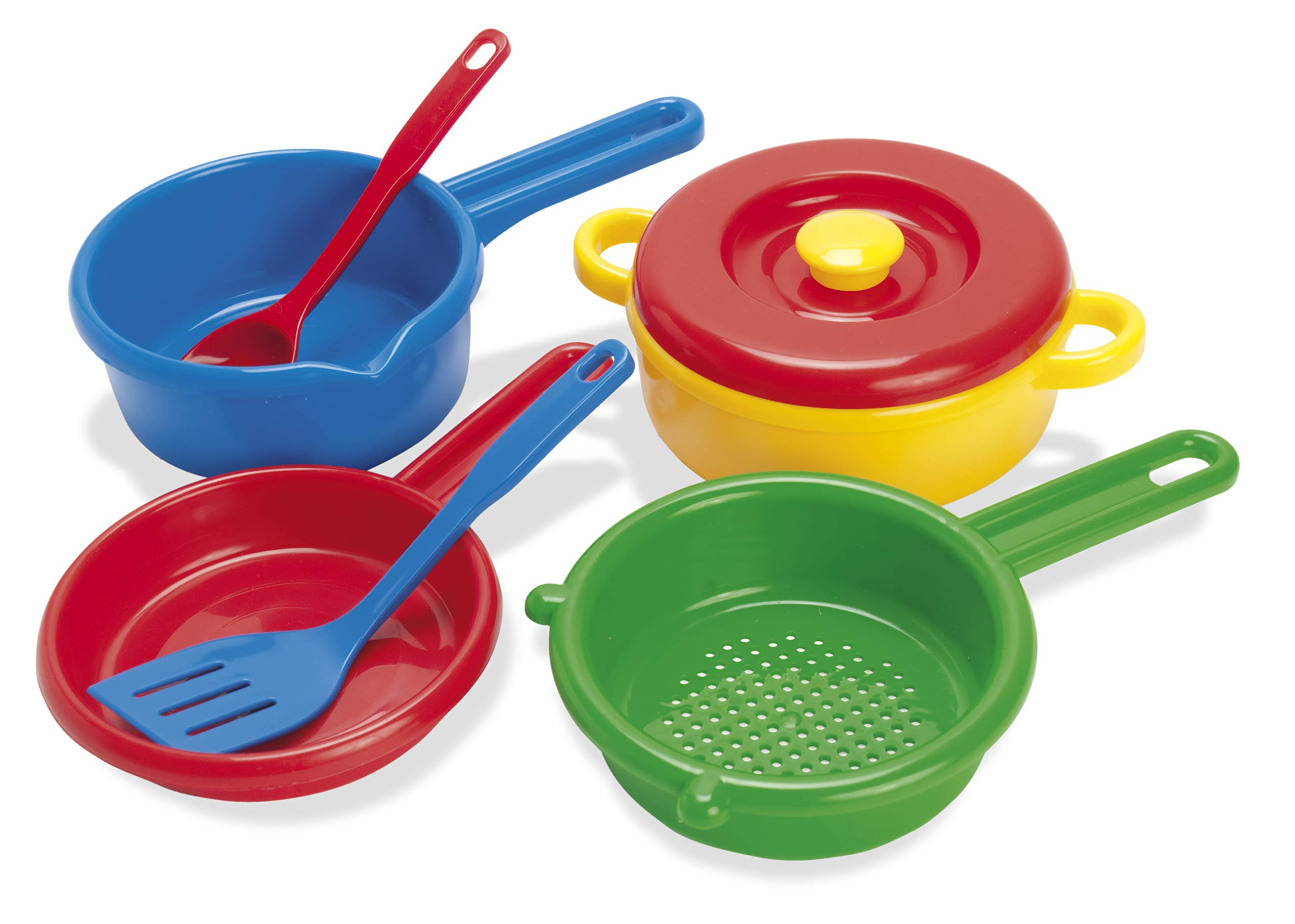 American Educational Products DT-4206 Pot, Sieve and Pan Activity Set, 3.904'' Height, 6.822'' Wide, 11.5051'' Length by American Educational Products