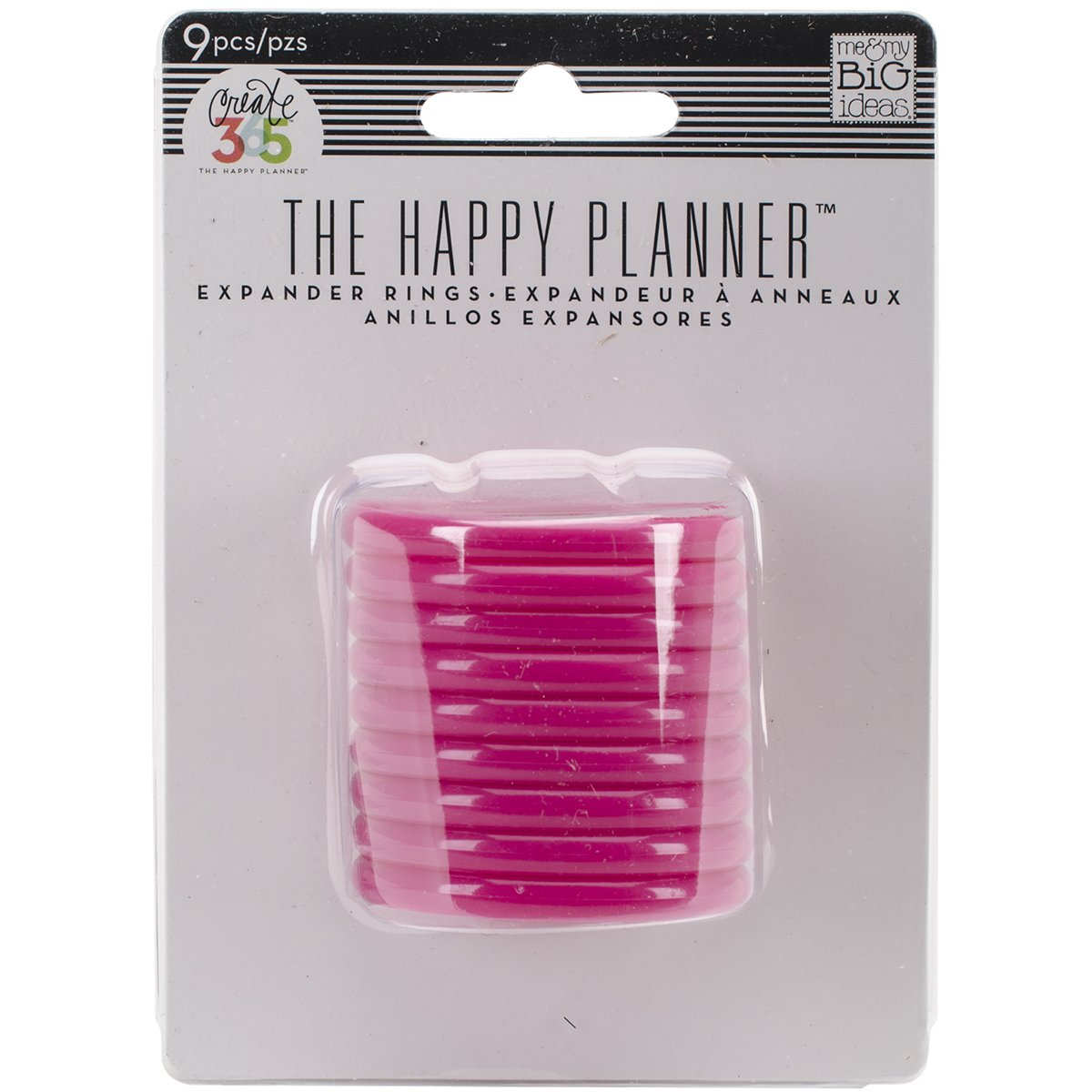 Me /& My Big Ideas Create 365 Planner Discs 9//Pkg-Clear Hot Pink 1.25/""