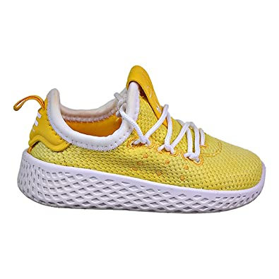 2c8f9539c6c adidas Originals Kids Unisex PW Tennis HU (Toddler) Bold Orange White 4 M