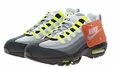 931969df30 Nike Mens Air Max 95 Neon OG Patch SP White Neon Yellow Trainer Size 8.5 UK
