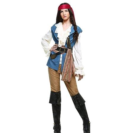 GAOJUAN Traje De Halloween Carnavales Adulto Cosplay Pirata ...