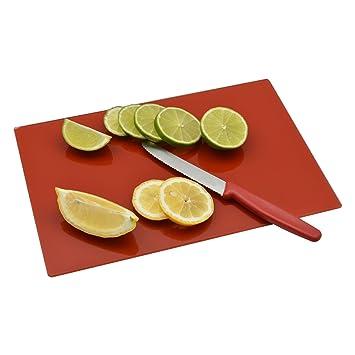 Tabla de cortar de vidrio Cocina - Rojo - 300mm x 200mm  Amazon.es ... c13d93f44bd4