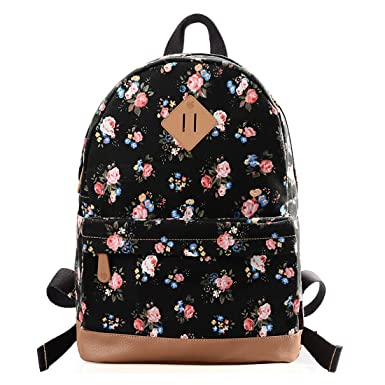 Amazon.com | Douguyan Casual Lightweight Print Backpack for Girls ...