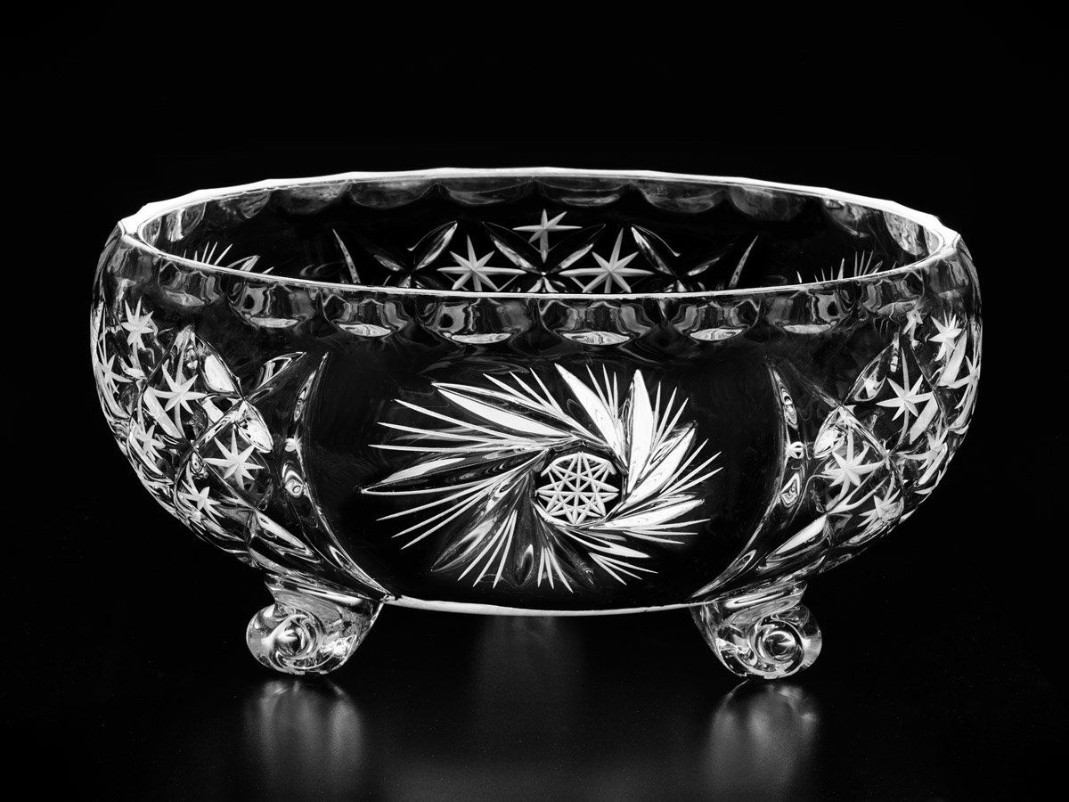 Cardinal Decorative Crystal Bowl on Curved Legs, Large/Small (24cm) Exquisite Glass