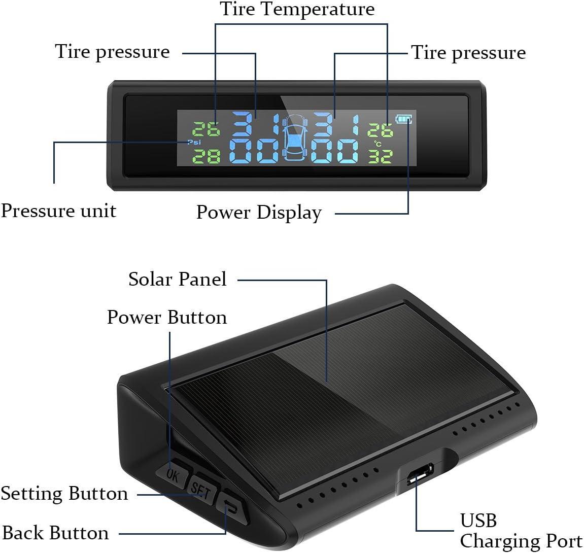 Keenso 4pcs Car TPMS Sensor Tire Pressure Monitoring System Tire Pressure Sensor for Mercedes Benz Renault Dacia Dokker Smart Fortwo Nissan NV400 X62
