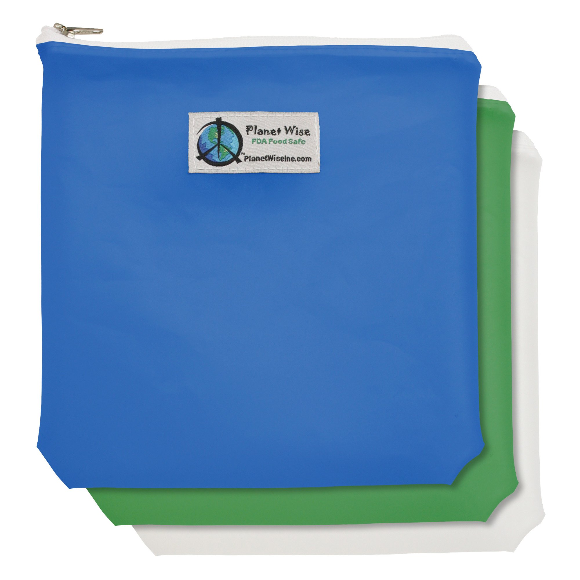 Planet Wise Tint Quart Bag - 3-Pack - Zipper (Blue/Green) by Planet Wise