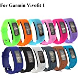 Cute Silicone Replacement Watchband Style Wristband Bracelets/ Wireless Activity Tracker Accessories Silicon Wrist Straps with Watch Buckle for Garmin Vivofit 1