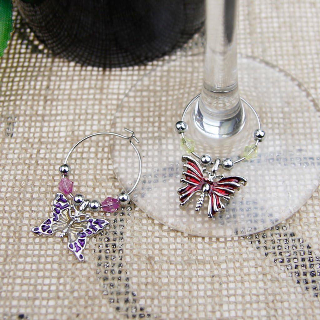 F Fityle Weinglas Markierer 6pcs Glasmarkierer Glas Speziell f/ür Weihnachten als Geschenk 2,5 /× 1,2 cm gemischte Form