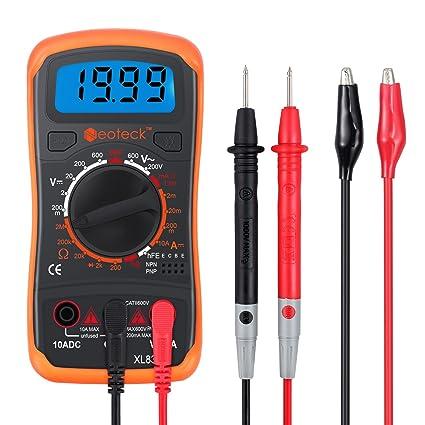 multimeter neoteck pocket digital multimeters multi tester voltmeter rh amazon com