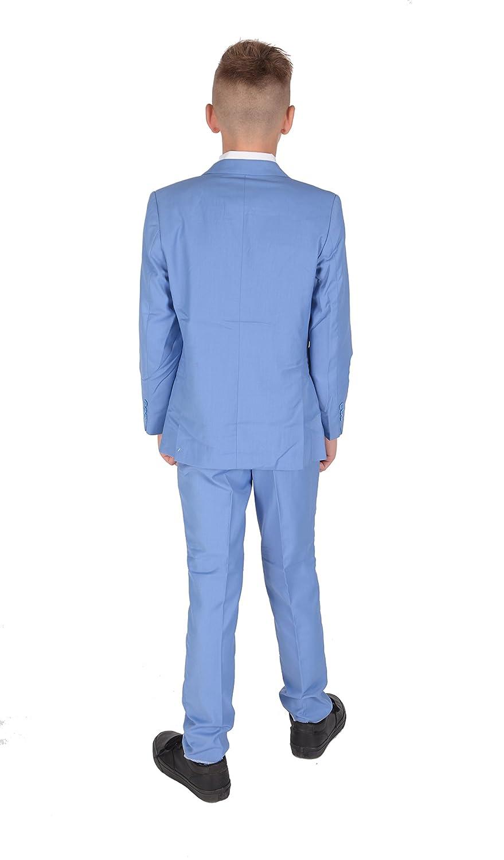 Amazon.com: Cinda 5 pieza luz azules Boy trajes niños boda ...