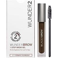 WUNDER2 WUNDERBROW Long Lasting Eyebrow Gel for Waterproof Eyebrow Makeup, Black/Brown Color