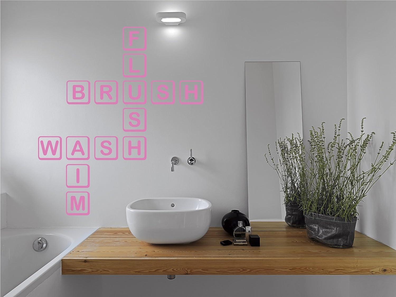 The Decal Guru Scrabble baño Adhesivo Decorativo para Pared, Bubble Gum, 24