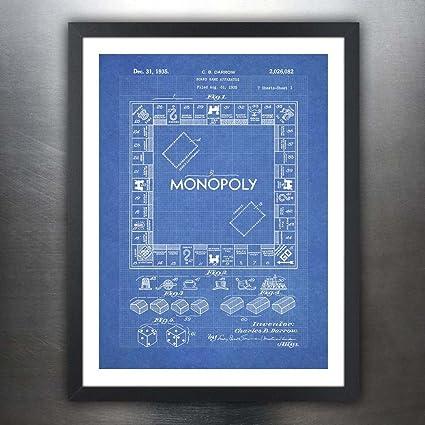Amazon monopoly poster board game blueprint us patent poster monopoly poster board game blueprint us patent poster print 18x24 reproduction gift 1935 unframed malvernweather Choice Image