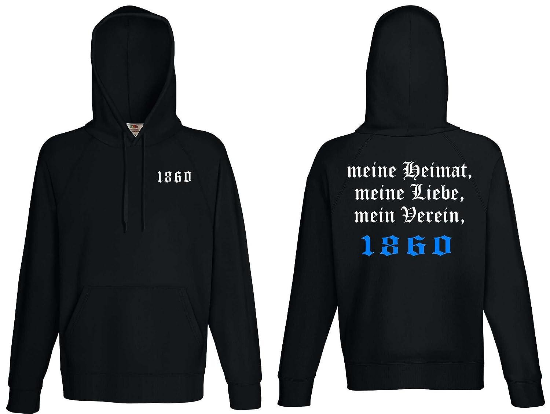 world-of-shirt Herren Kapuzensweat 1860 Ultras meine Heimat