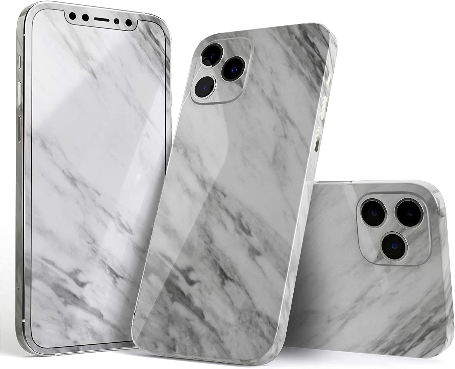 Design Skinz Slate Marble Surface V10 Full Body Skin Decal Wrap Kit Compatible with Apple iPhone X/XS (Screen Trim & Back Skin)