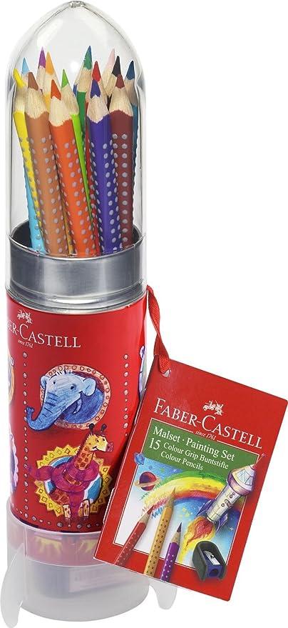 Faber-Castell 112457 - Estuche cohete con 15 ecolápices Grip ...