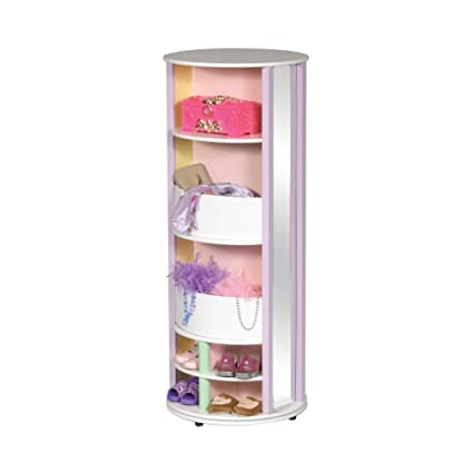 Guidecraft Dress Up Carousel U2013 Pastel: Wooden Wardrobe For Kids, Pretend  Play Round Storage