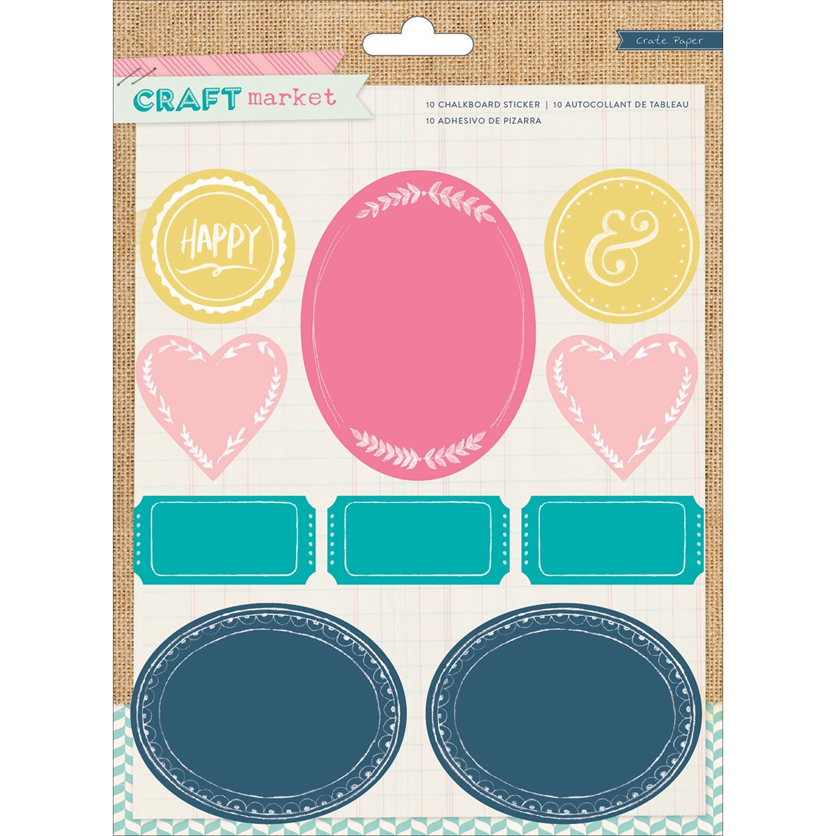 Crate Paper Market Colored Chalkboard Stickers American Crafts 683659